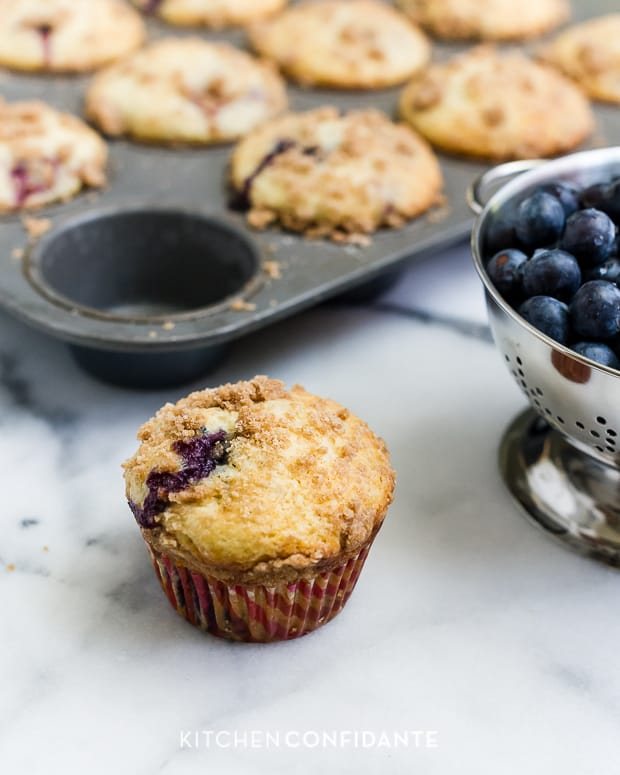 Mixed Berry Streusel Muffins | Kitchen Confidante | Blueberries & Raspberries