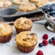 Mixed Berry Streusel Muffins | Kitchen Confidante