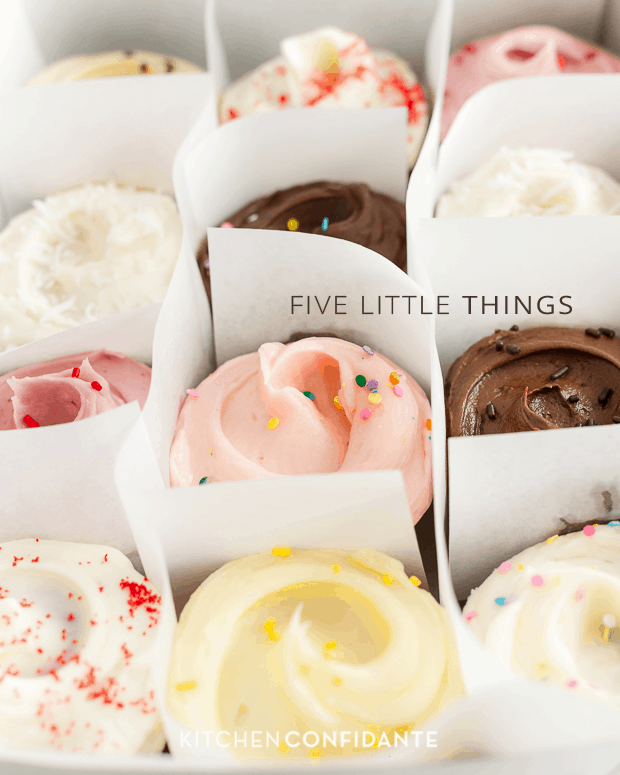 Five Little Things - June 21, 2013 | www.kitchenconfidante.com | Cupcakes