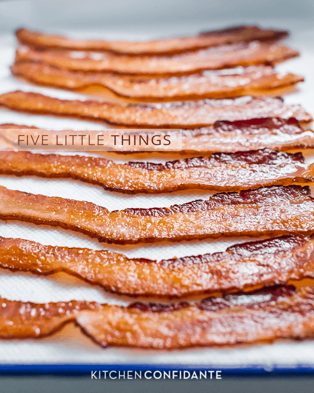 Five Little Things | Kitchen Confidante | June 6, 2013 | Baked Bacon