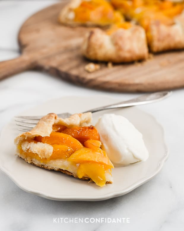 Apricot Galette | www.kitchenconfidante.com | A la mode