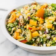 Summer Corn and Nectarine Tabbouleh | www.kitchenconfidante.com