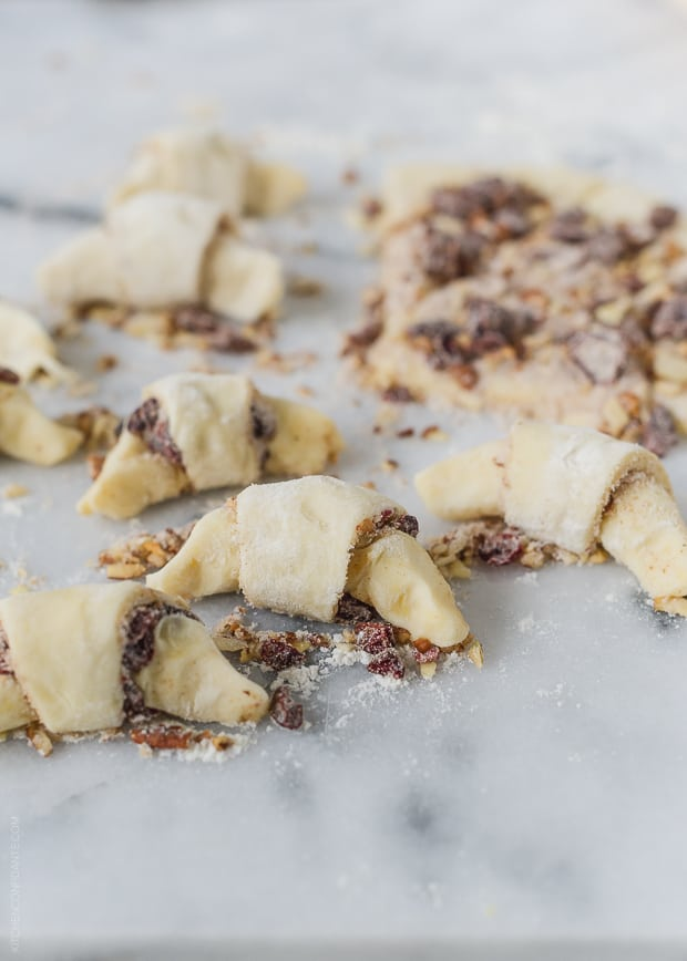 Cranberry Nut Butterhorns (Rugelach) | www.kitchenconfidante.com