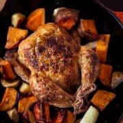 Spice Roasted Cornish Hens and Sweet Potatoes | www.kitchenconfidante.com