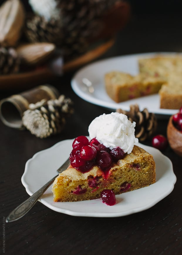 Cranberry Orange Olive Oil Cake | www.kitchenconfidante.com