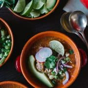 Fire Roasted Chipotle Posole | www.kitchenconfidante.com