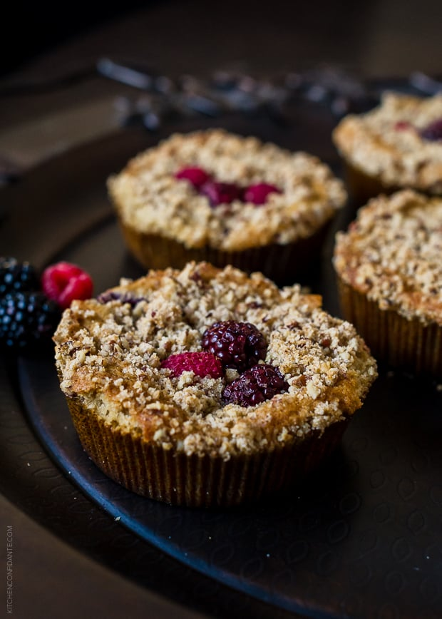 Mixed Berry Pecan Coffee Cakes | www.kitchenconfidante.com