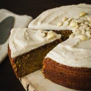Pumpkin Marcona Almond Cake | www.kitchenconfidante.com