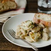 Cauliflower Gnocchi with Creamy Cauliflower-Shiitake Mushroom Sauce | www.kitchenconfidante.com