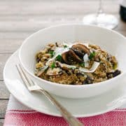 Mushroom Quinoa Risotto | www.kitchenconfidante.com
