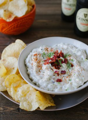 Bacon Leek Dip | www.kitchenconfidante.com