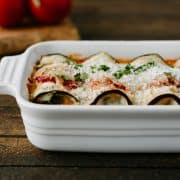 Eggplant Rollatini with Pancetta and Spinach | www.kitchenconfidante.com
