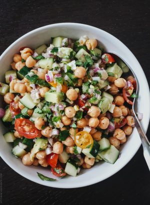 Chickpea Salad | Five Little Things - May 16, 2014 | www.kitchenconfidante.com