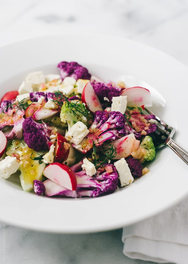 Tri-Color Cauliflower Salad | www.kitchenconfidante.com