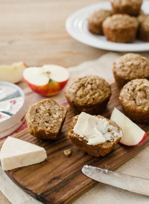 Apple Oat Muffins | www.kitchenconfidante.com | Grated apples, peels and all, make for snack-worthy muffins.
