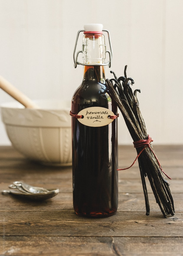 Homemade Vanilla Extract | www.kitchenconfidante.com | All you need is vanilla, alcohol, and time!