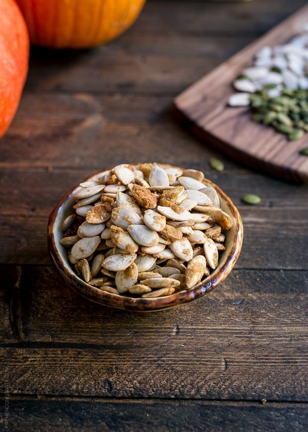 3 Tasty Takes on Pumpkin Seed Recipes | www.kitchenconfidante.com | Wasabi Brown Sugar Roasted Pumpkin Seeds