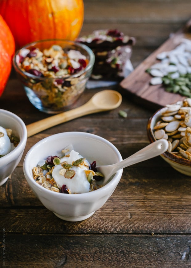 3 Tasty Takes on Pumpkin Seed Recipes | www.kitchenconfidante.com | Pumpkin Seed Granola