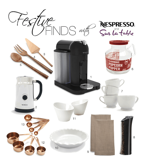 Festive Finds with Nespresso and Sur la Table | www.kitchenconfidante.com