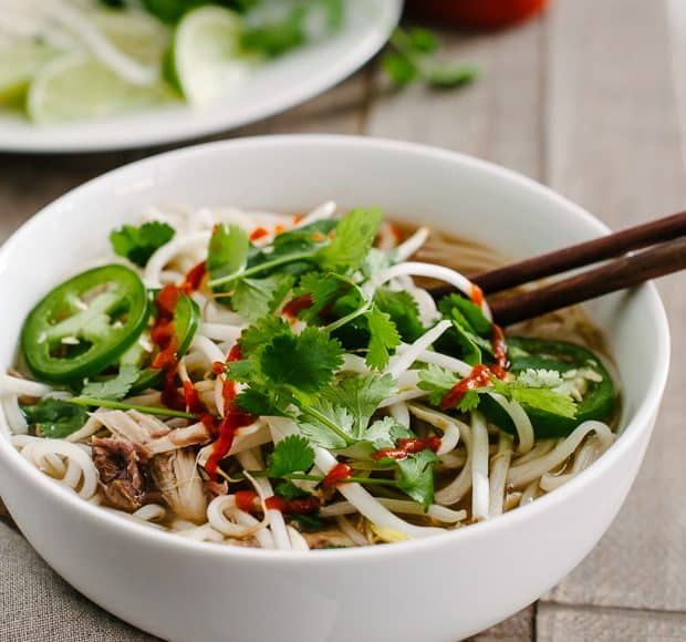 Prime Rib Pho | www.kitchenconfidante.com | Save those prime rib roast bones and make a Vietnamese style noodle soup!