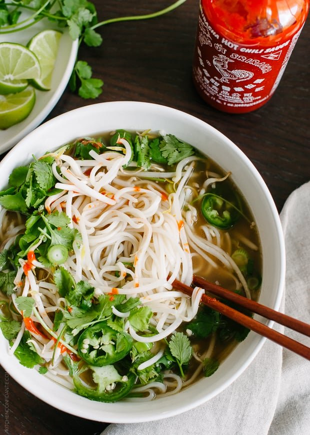 Prime Rib Pho | www.kitchenconfidante.com | Make a fragrant broth with leftover prime rib!