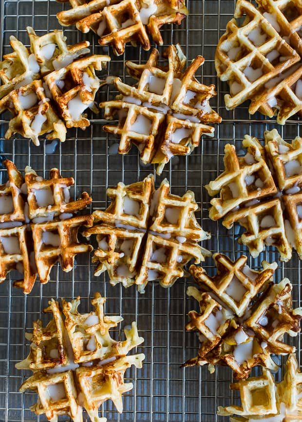 Apple Stuffed Belgian Waffles | www.kitchenconfidante.com | Break out the waffle maker for this ultimate breakfast.