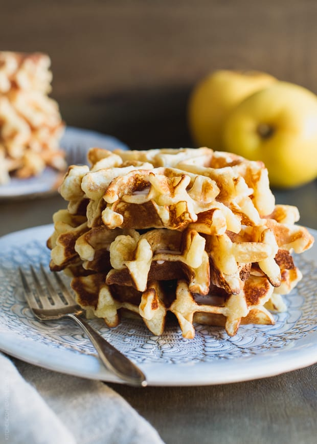 Apple Stuffed Belgian Waffles | www.kitchenconfidante.com