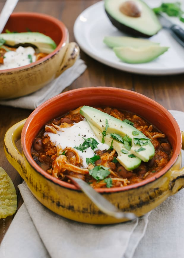 Chicken Chili | www.kitchenconfidante.com | Here's a chili the whole family will love.