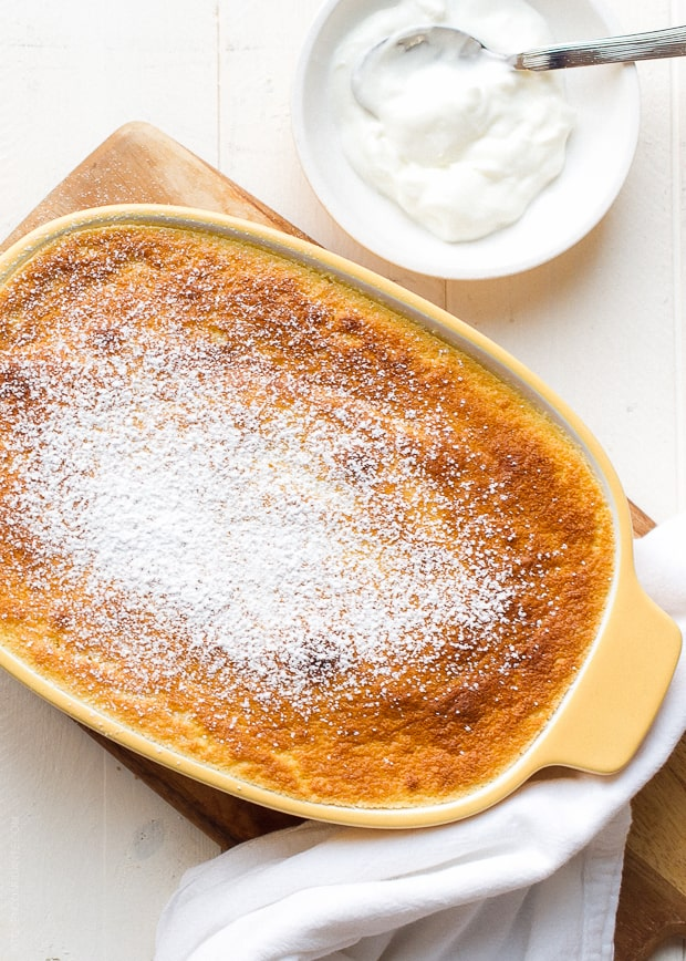 MEYER LEMON BUTTERMILK PUDDING | www.kitchenconfidante.com | A bright and sunny dessert that makes use of winter's Meyer lemons.