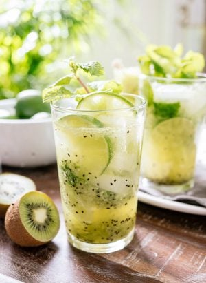 Kiwi Lime Mojitos | www.kitchenconfidante.com | It's a vacation in a glass.