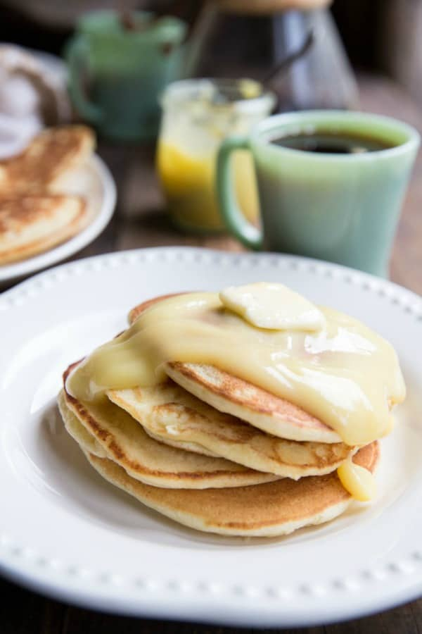 Lemon Ricotta Pancakes from The Vintage Mixer