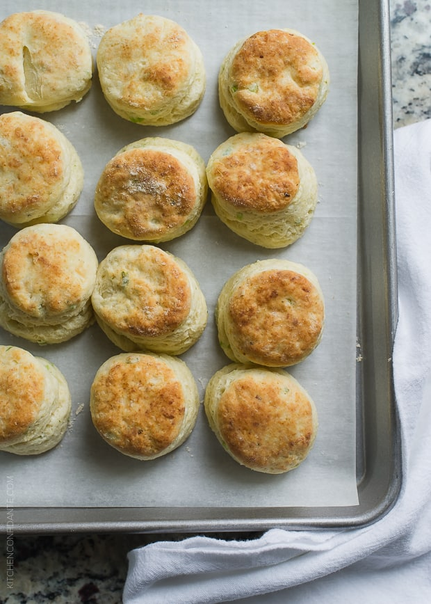 Boursin Garlic and Herb Buttermilk Biscuits | www.kitchenconfidante.com | There's nothing better than fresh biscuits, straight out of the oven.