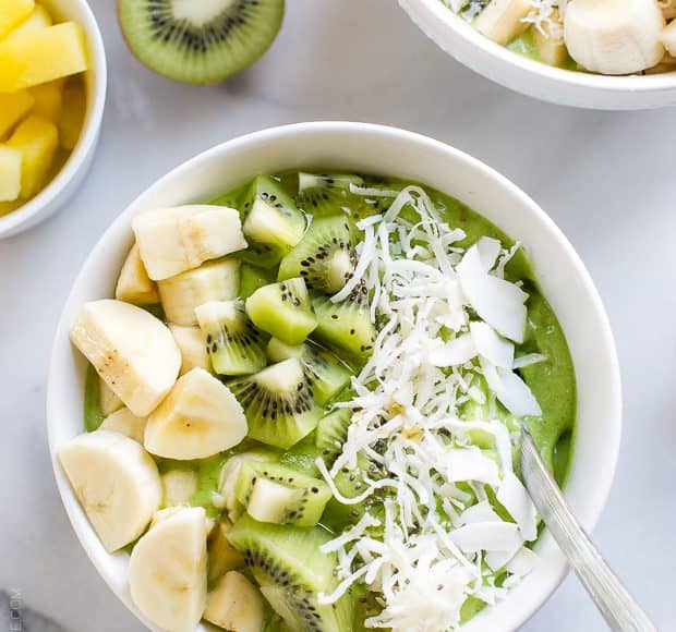 Green Smoothie Bowl | www.kitchenconfidante.com | Skip the straw and grab a spoon - this is the perfect breakfast, lunch, or post workout snack!