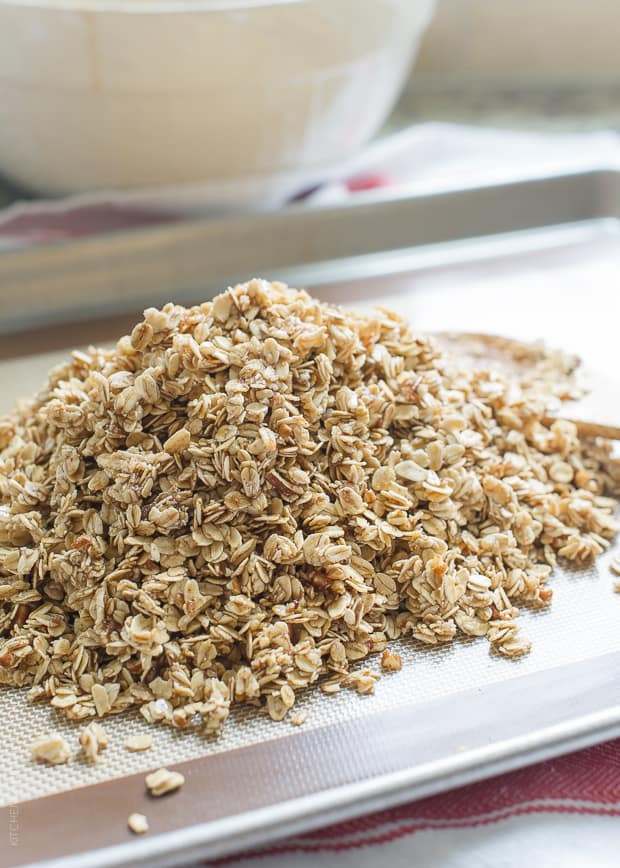 Blueberry Maple Granola | www.kitchenconfidante.com | Homemade granola is so easy!