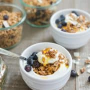 Blueberry Maple Granola | www.kitchenconfidante.com | Sprinkle it over yogurt, milk, ice cream, or eat it by the handful.