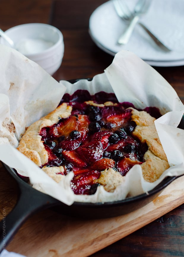 Mixed Berry Cornmeal Galette | www.kitchenconfidante.com | Galettes are an easy summer staple.