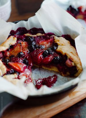 Mixed Berry Cornmeal Galette | www.kitchenconfidante.com | Summer is the season for galettes.