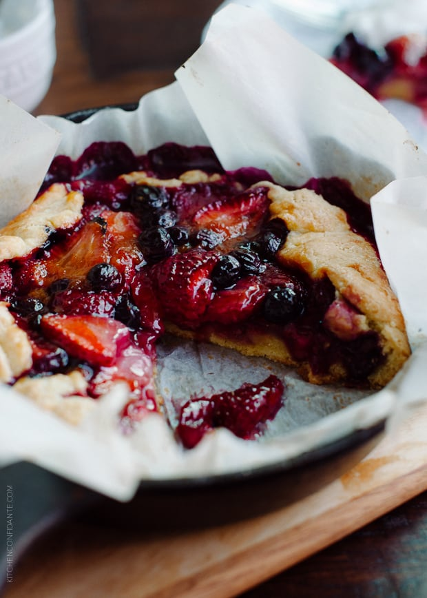 Mixed Berry Cornmeal Galette   www.kitchenconfidante.com   Summer is the season for galettes.