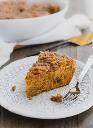 Buttered Rum and Candied Sweet Potato Crumb Cake | www.kitchenconfidante.com | Pour yourself a cup of tea and dig into a slice of the ultimate crumb cake from the Grandbaby Cakes cookbook!
