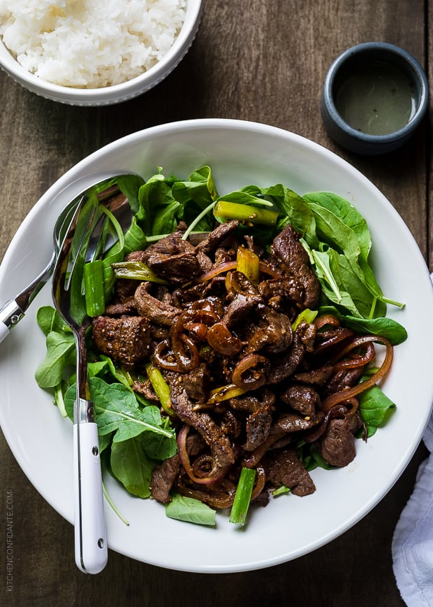 Shaking Beef | www.kitchenconfidante.com | Add this dish to your weeknight repertoire!