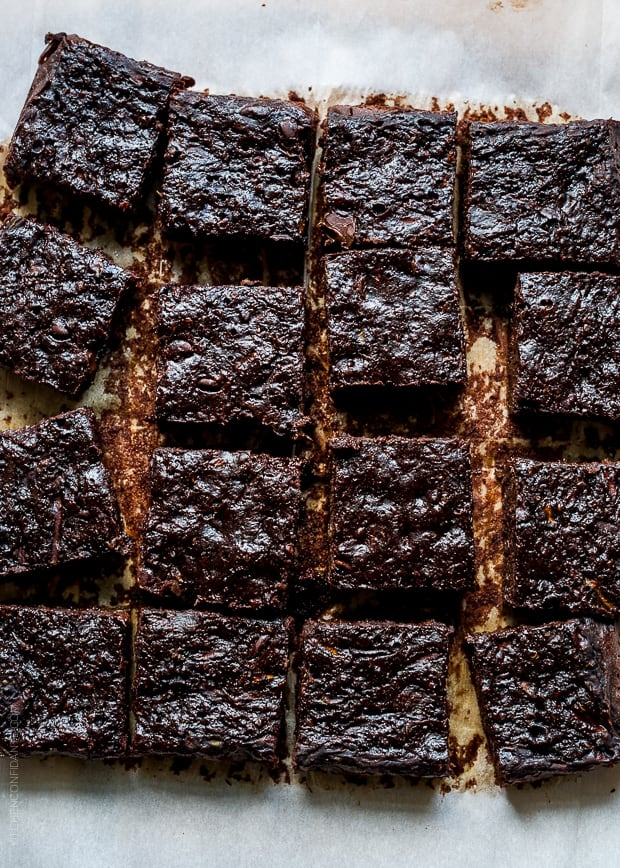 Zucchini Banana Brownies | www.kitchenconfidante.com | Deep, dark, and not sinful at all!