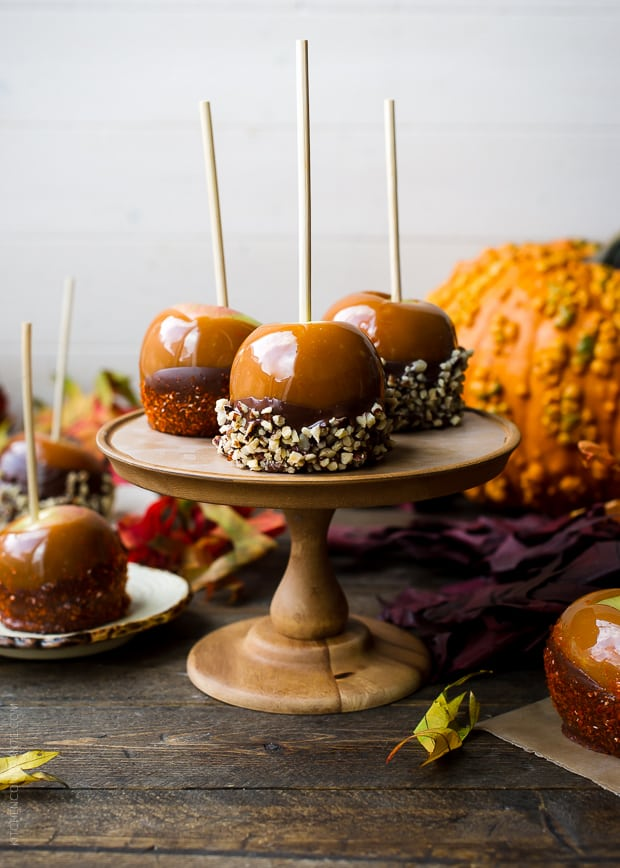 join me and find the recipe for Double Dipped Chocolate Caramel Apples ...