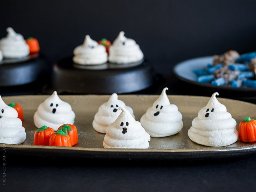 Friendly Ghost Meringues and More Halloween Treats | www.kitchenconfidante.com