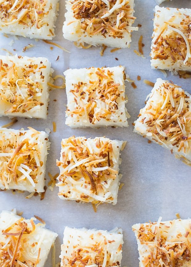 Coconut Rice Cakes | www.kitchenconfidante.com | A simple recipe that uses sushi rice in a sweet way!