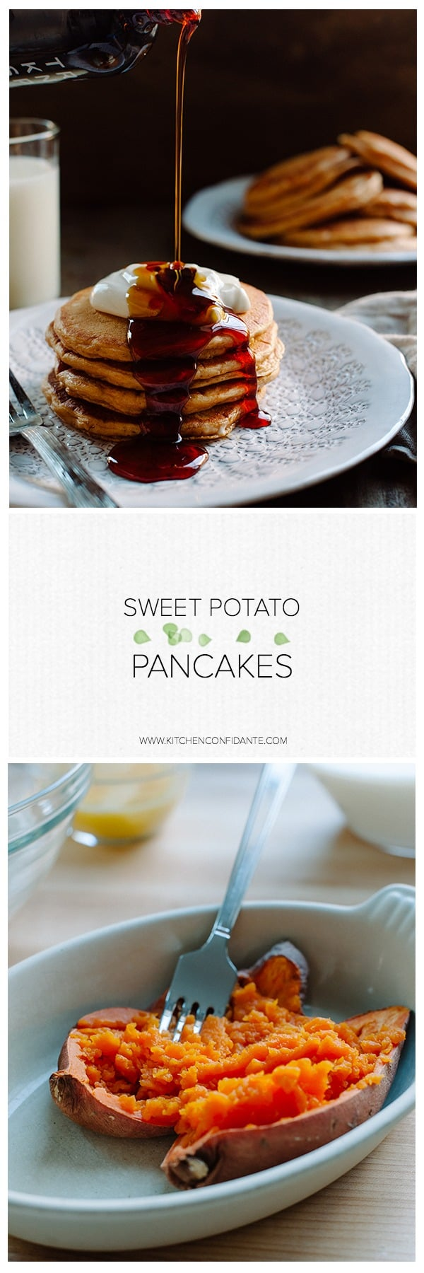 If you love pumpkin pie, sweet potato pie, sweet potato cake or all of the above, you'll LOVE Sweet Potato Pancakes. Also delicious for leftover Thanksgiving sweet potatoes!