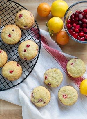 Find the winter sun indoors in these Cranberry Citrus Muffins!