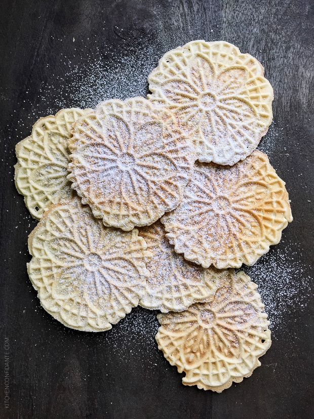 Pizzelle are Italian waffle cookies I love to make during the holidays!