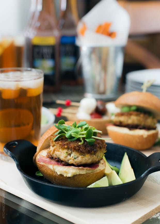 Hosting a game day dinner? Try these Pretzel Crusted Crab Cake Sliders.