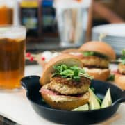 Serve up these Pretzel Crusted Crab Cake Sliders at your next game day dinner party, and they're sure to be a hit!