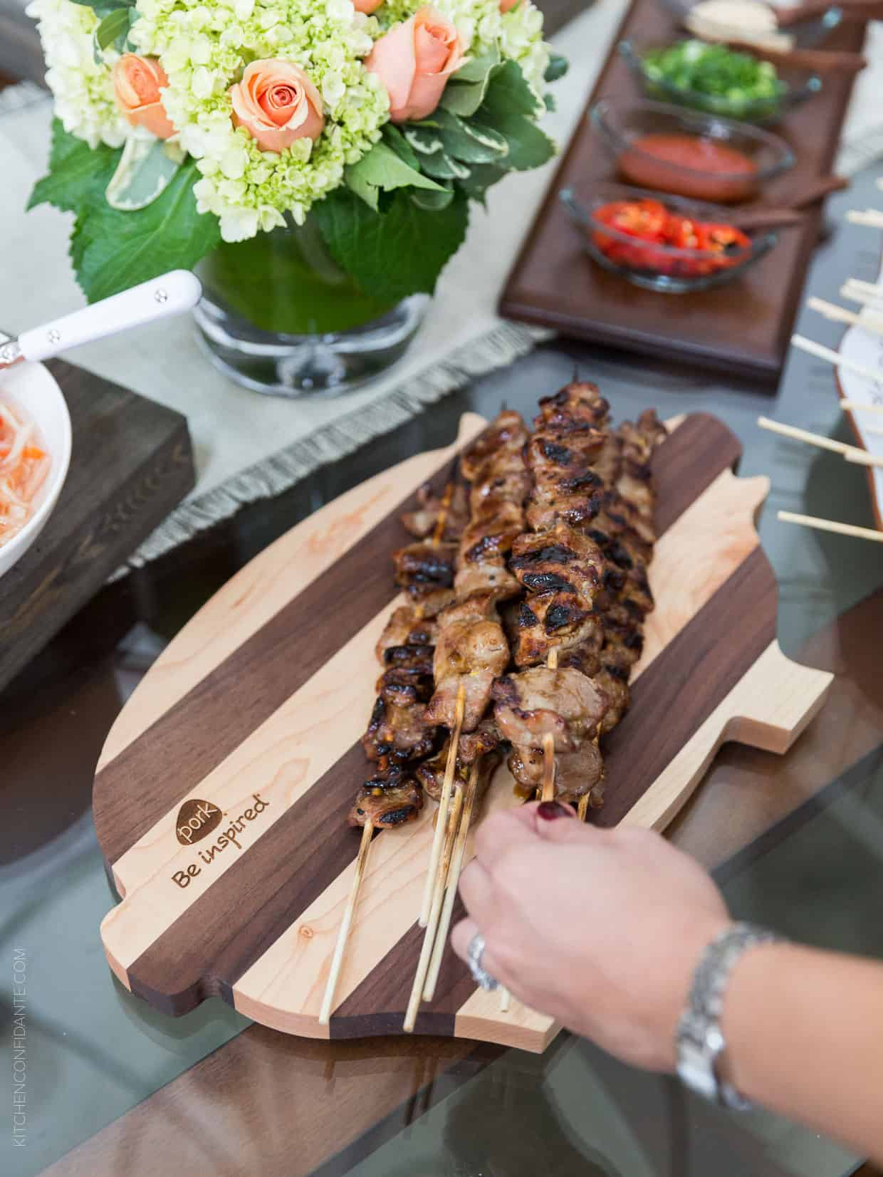 Filipino Pork BBQ skewers disappear like magic at any gathering. Try it for game day!